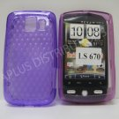 New Purple Diamond Cut PatternTPU Cover For LG Optimus S LS670 - (0012)