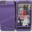 NEW Purple Rubberized Hard Protective Cover For Motorola Droid X MB810 - (0057)