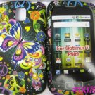 New Black Groovy Butterflies Design Hard Protective Cover For LG Optimus T P509 - (0076)