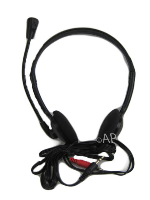 NEW STEREO HEADSET FOR COMPUTER PC SKYPE VOIP GAMING HEADSET HEADPHONE MIC