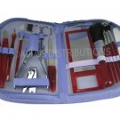 NEW 18-PIECE MANICURE & COSMETIC TRAVEL SET WCONVENIENT ZIPPER CASE - PUR