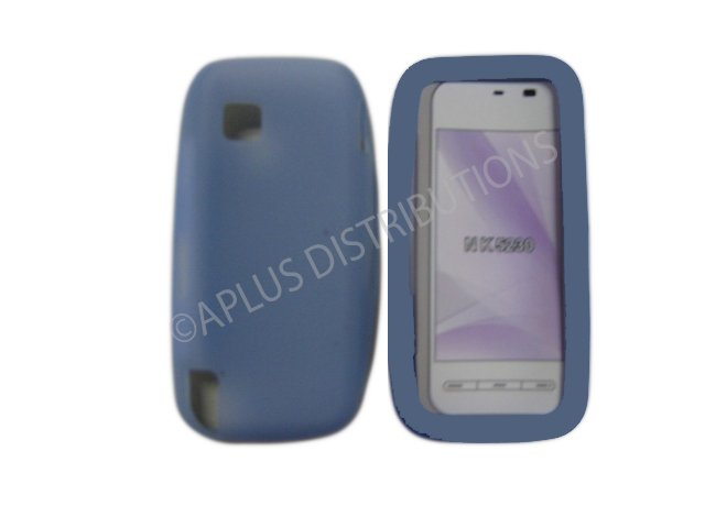 New Light Blue Solid Color Silicone Skin Case For Nokia Nuron 5230 - (0010)