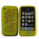 New Yellow Primo Bricks Design Silicone Cover For iPhone 3G 3GS - (0041)