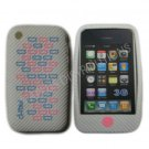 New White Primo Bricks Design Silicone Cover For iPhone 3G 3GS - (0040)