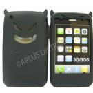 New Black Devil Design Silicone Cover For iPhone 3G 3GS - (0091)