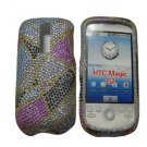 New Multi-Color Abstract Triangle Bling Diamond Case For HTC My Touch G2 Magic