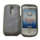 "NEW SOLID WHITE DESIGN CRYSTAL BLING DIAMOND CASE COVER FOR HTC MY TOUCH G2 ""MAGIC"""