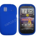 New Dark Blue Solid Color Silicone Cover For HTC Amaze 4G