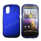 New Blue Solid Color Hard Rubberized Case Cover For HTC AMAZE 4G