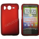 New Red Solid Color Hard Rubberized Case Cover For HTC Desire HD / Inspire