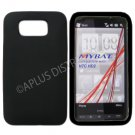 New Black Solid Color Silicone Skin Case For HTC HD2