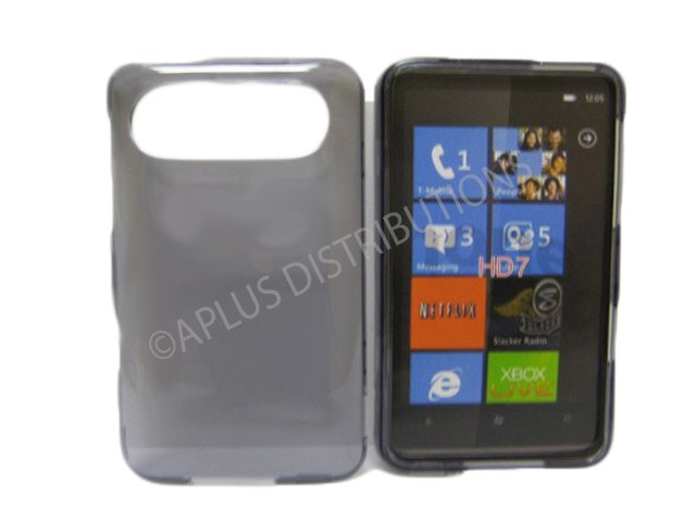 New Smoke Transparent Hard Protective Case Cover For HTC HD 7