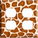 GIRAFFE SKIN ANIMAL PRINTS KIDS ROOM ELECTRICAL 4 HOLE OUTLET WALL PLATE