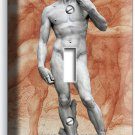 MICHELANGELO DAVID NAKED SCULPTURE SINGLE LIGHT SWITCH WALL PLATE NEW ART COVER