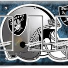 OAKLAND RAIDERS NATION NFL FOOTBALL TEAM TRIPLE GFCI LIGHT SWITCH WALL PLATE ART
