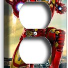 IRONMAN SUPER HERO DUPLEX OUTLET WALL PLATE COVER BOYS BEDROOM IRON MAN TV ROOM