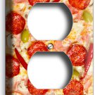 PEPPERONI CHEESE PIZZA DUPLEX OUTLETS WALL PLATE DINING ROOM KITCHEN HOME DECOR