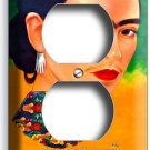 PORTRET FRIDA KAHLO MEXICAN ARTIST DUPLEX OUTLET WALL PLATE COVER HOME ART DECOR