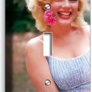 COLOR MARILYN MONROE SMILING FLOWER SINGLE LIGHT SWITCH WALL PLATE COVER DECOR