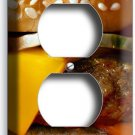 CHEESEBURGER BEEF JUICY BURGER DUPLEX OUTLET WALL PLATE COVER KITCHEN ROOM DECOR