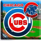 CHICAGO CUBS MLB BASEBALL TEAM LOGO DOUBLE LIGHT SWITCH WALL PLATE COVER DECOR