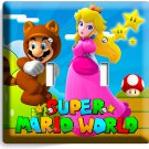 SUPER MARIO PRINCESS PEACH DOUBLE LIGHT SWITCH WALL PLATE COVER GIRLS ROOM DECOR