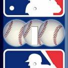NEW MLB MAJOR LEAGUE BASEBALL BALLS LOGO EMBLEM SIMBOL SINGLE LIGHT SWITCH PLATE
