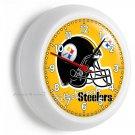 PITTSBURGH STEELERS NFL FOOTBALL TEAM LOGO WALL CLOCK MAN CAVE BOYS ROOM BEDROOM