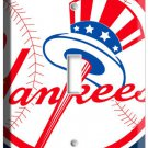 NEW YORK YANKEES BASEBALL MLB BAT AND HAT LOGO SINGLE LIGHT SWITCH WALL PLATE AN