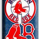 BOSTON RED SOX BASEBALL TEAM SINGLE LIGHT SWITCH WALL PLATE MAN CAVE ROOM DECOR