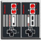 VIDEO GAME CONTROLLER CLASSIC NINTENDO NES DOUBLE LIGHT SWITCH COVER WALL DECOR