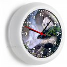 WILD PANDA BEAR BAMBOO WATERFALL WALL CLOCK BEDROOM HUNTING CABIN OFFICE DECOR