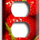 SWEET RED STRAWBERRIES ELECTRICAL OTLET WALL PLATE KITCHEN ART DECOR DINING ROOM