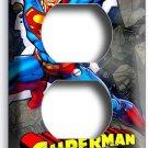 SUPERMAN CARTOON COMICS DUPLEX OUTLET WALL PLATE COVER BOYS BEDROOM ROOM DECOR