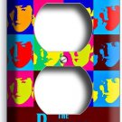 THE BEATLES POP ART JOHN GEORGE PAUL RINGO DUPLEX OUTLET COVER ANDY WARHOL DECOR