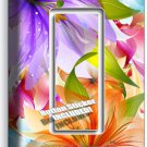 FLORAL LILIES PURPLE ORANGE LILY FLOWER SINGLE GFI LIGHT SWITCH WALL PLATE DECOR