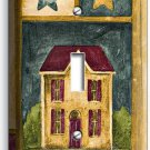 RUSTIC OLD AMERICAN COUNTRY HOUSE SINGLE LIGHTSWITCH WALL PLATE COVER HOME DECOR