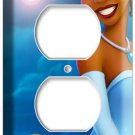 PRINCESS TIANA AND PRINCE NAVEEN THE FROG MOVIE 2 HOLE OUTLET WALL COVER PLATE