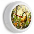WILD ANIMALS WHITETAIL DEER BUCK ANTLERS WALL CLOCK BEDROOM HUNTING CABIN DECOR