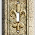 FLEUR DE LIS SINGLE LIGHT SWITCH WALL PLATE WALL PLATE COVER OLD MEDICI EMBLEM