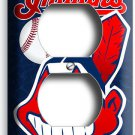CLEVELAND INDIANS BASEBALL DUPLEX OUTLET WALL PLATE COVER MAN CAVE GARAGE DECOR