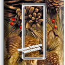 PINE CONES SINGLE GFI LIGHT SWITCH WALL PLATE COVER HOME WOOD CABIN RUSTIC DECOR