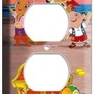 JAKE AND NEVERLAND PIRATES ELECTRICAL OUTLET WALL PLATE CHILDREN'S BOY BEDROOM