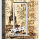 RETRO PARIS EIFFEL TOWER AD SINGLE GFCI LIGHT SWITCH WALL PLATE COVER HOME DECOR