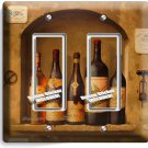 TUSCAN KITCHEN ITALIAN WINE BOTTLES DOUBLE GFI LIGHT SWITCH WALL PLATE ART COVER