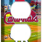 ST LOUIS CARDINALS BASEBALL TEAM DUPLEX OUTLET WALL PLATE COVER ROOM HOME DECOR
