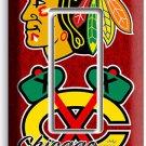 CHICAGO BLACKHAWKS HOCKEY SINGLE GFCI LIGHT SWITCH PLATE GAME BOYS ROOM GARAGE