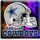 DALLAS COWBOYS NFL FOOTBALL TEAM LOGO DOUBLE LIGHT SWITCH WALL PLATE COVER DECOR