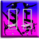 LITTLE GYMNAST DOUBLE GFCI LIGHT SWITCH WALL PLATE GIRLS ROOM DANCE STUDIO DECOR