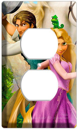 RAPUNZEL FLYNN TANGLED MOVIE ELECTRIC OUTLET WALL PLATE GIRLS BEDROOM DECORATION